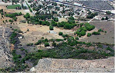 Aerial view of Big Morongo Canyon Preserve (taken before the June, 2005 fire)